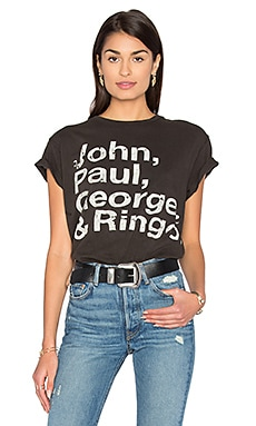 John, Paul, George, & Ringo Tee in Dirty Black