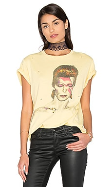 David Bowie Tee in Washed Yellow