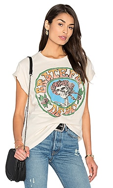 Grateful Dead Tee in Dirty White