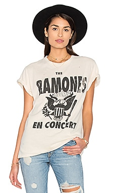 The Ramones Tee in Dirty White
