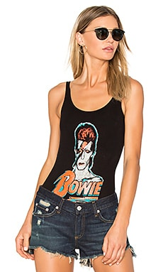 x REVOLVE David Bowie Bodysuit in Black Glitter