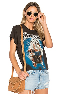 Metallica Ride The Lightning Glow In The Dark Tee in Dirty Black