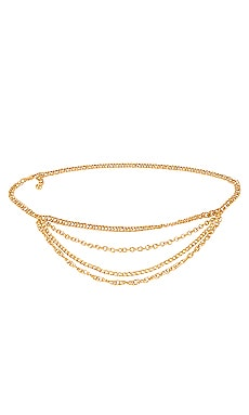 x REVOLVE Harper Chain Belt Michael Costello $75 NEW