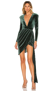 ROBE COURTE À LONGUES MANCHES GENEVA Michael Costello $198 BEST SELLER