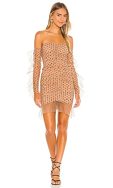 x REVOLVE Xander Midi Dress Michael Costello $278 NEW