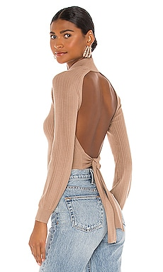 x REVOLVE Cropped Open Back Mock Neck Michael Costello $168