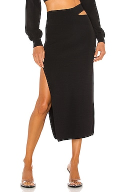 JUPE MIDI KNIT Michael Costello $158