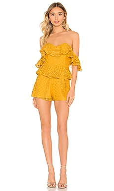 X REVOLVE Tilly Romper Michael Costello $72 (FINAL SALE)