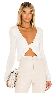 x REVOLVE Long Sleeve Twist Front Top Michael Costello $110