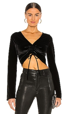 TOP CROPPED RUCHED Michael Costello $148 NOUVEAU