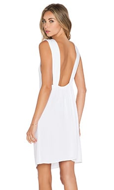 MERRITT CHARLES Nikki Open Back Short Dress in White