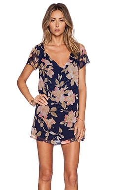MERRITT CHARLES Madeline Dress in Navy Floral