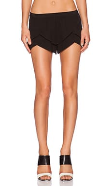 MERRITT CHARLES Natalia Tiered Shorts in Black