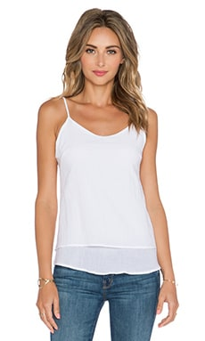 MERRITT CHARLES Lex Double Layer Tank in Optic White