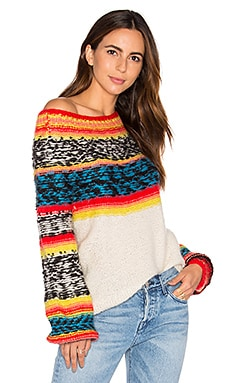 Mes Demoiselles Goyave Sweater in Ecru Multi