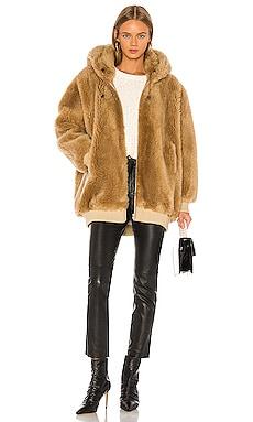 Hooded Woven Wool Bomber Jacket Yves Salomon - Meteo $1,050