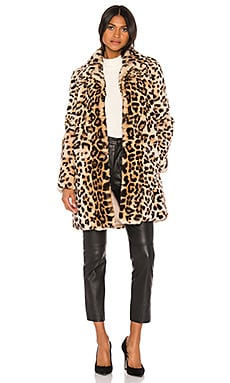 Printed Rex Rabbit Fur Coat Yves Salomon - Meteo $1,650