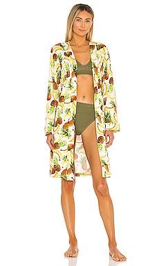 Classic Short Pockets Robe MASONgrey $46