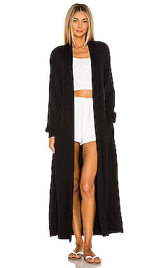 Banded Long Fuzzy Luxe Robe MASONgrey $138 BEST SELLER