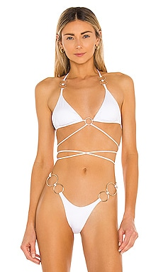 Girl On Fire Bikini Top Monica Hansen Beachwear $51 (FINAL SALE)