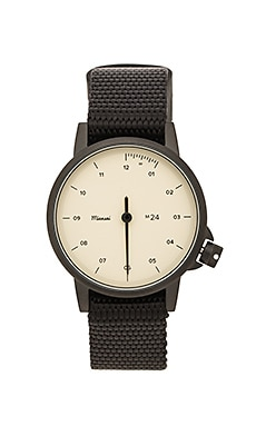 Miansai M24 Noir/Bone On Nylon Watch in Black
