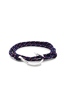 Miansai Silver Hook On Rope in Navy Blue