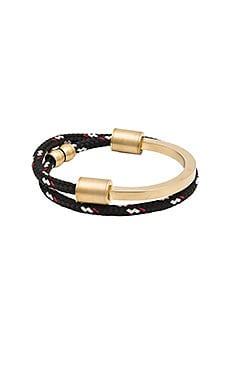 Miansai Modern Half Rope Cuff in Black & Red