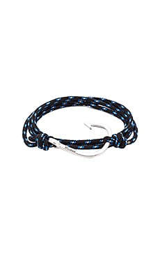 Miansai Silver Hook on Rope in Black & Blue