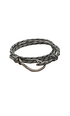 Matte Black Hook On Rope in Concrete