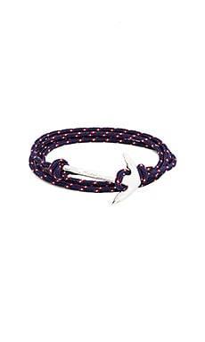 Miansai Silver Anchor On Rope in Navy Blue