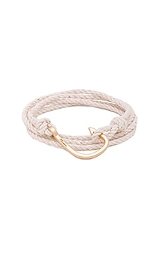 Miansai Brass Hook On Rope in Natural