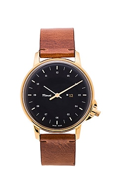Miansai M12 Watch in Navy & Gold & Vintage Cognac