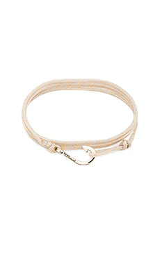 x REVOLVE Mini Hook On Thin Rope Bracelet en Shadow & Sterling Silver