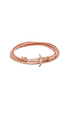 Mini Modern Anchor Bracelet in Pink