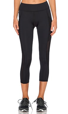 MICHI Stardust Mesh Pocket Legging in Black