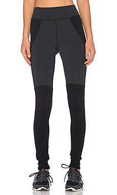 MICHI Shadow Legging in Black & Black Croc