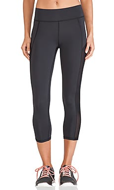 MICHI Stardust Crop Legging in Black