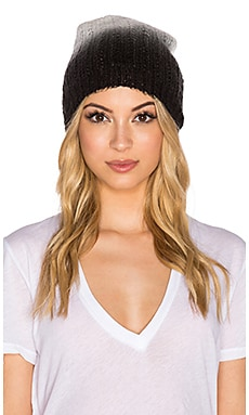 Michael Stars Laced Knit Ombre Slouch Hat in Black