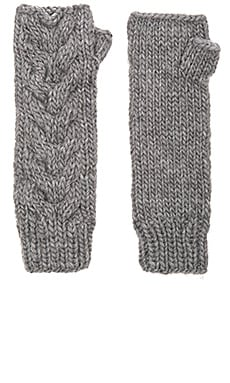 Chunky Cozy Fingerless Glove en Galvanized