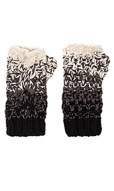 Seeded Ombre Fingerless Glove in Black