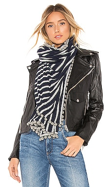 Stripe Wrap With Pom Poms Michael Stars $69