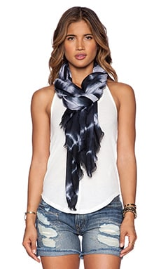 Michael Stars Shibori Blocked Wrap in Black