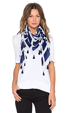 Michael Stars Scared Circle Square Scarf in Passport