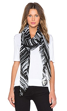 Michael Stars Pencil Marks Square Scarf in Black