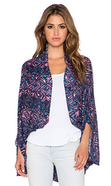 Michael Stars Overdyed Batik Cape in Passport