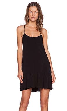 Michael Stars Cross Back Dress in Black
