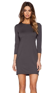 Michael Stars 3/4 Sleeve Drape Dress in Oxide