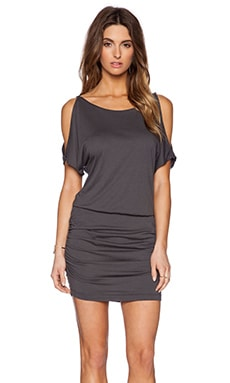 Michael Stars Slit Sleeve Ruched Dress in Oxide