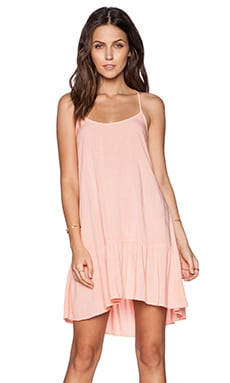 Michael Stars Cross Back Dress in Coral Blush