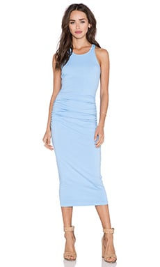 Michael Stars Shirred Racerback Midi Dress in Newport
